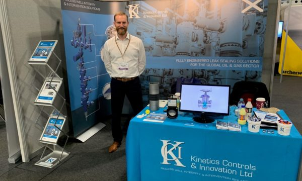 Kevin Watt at the Kinetics Controls Innovation I Co TA Conference Exhibition Stand