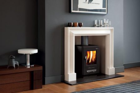 Alpine 4 Black Fireplace